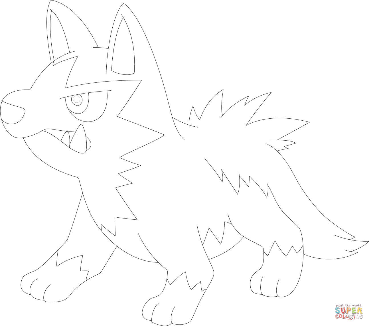 Poochyena Coloring Pages Poochyena Coloring Page Free Printable Coloring Pages