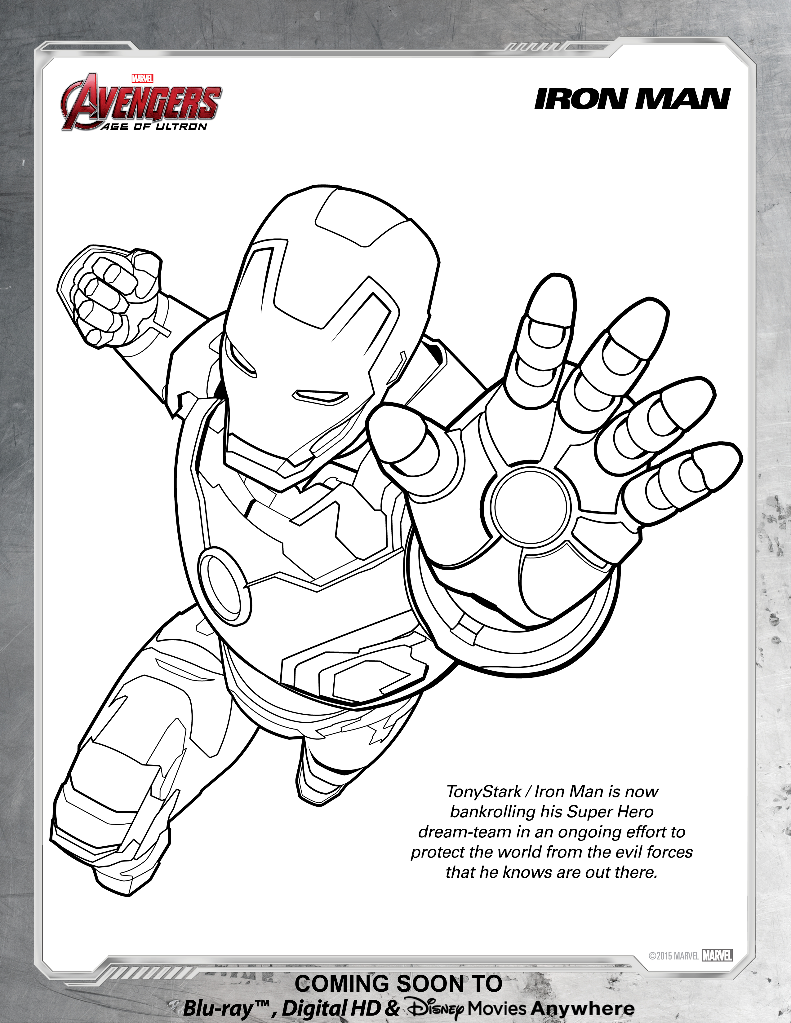 Printable Ironman Coloring Pages Avengers Iron Man Coloring Page Disney Movies