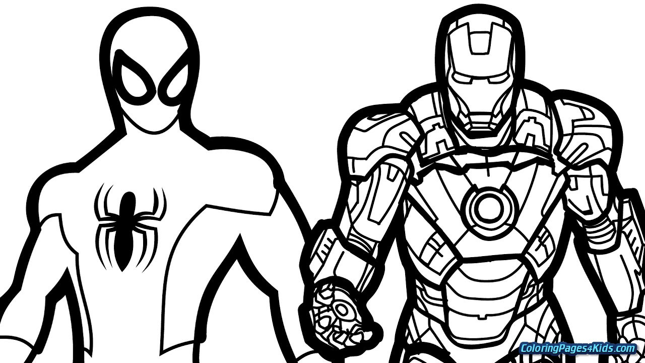 Printable Ironman Coloring Pages Coloring Free Printable Iron Man Coloring Pages For Kids Best