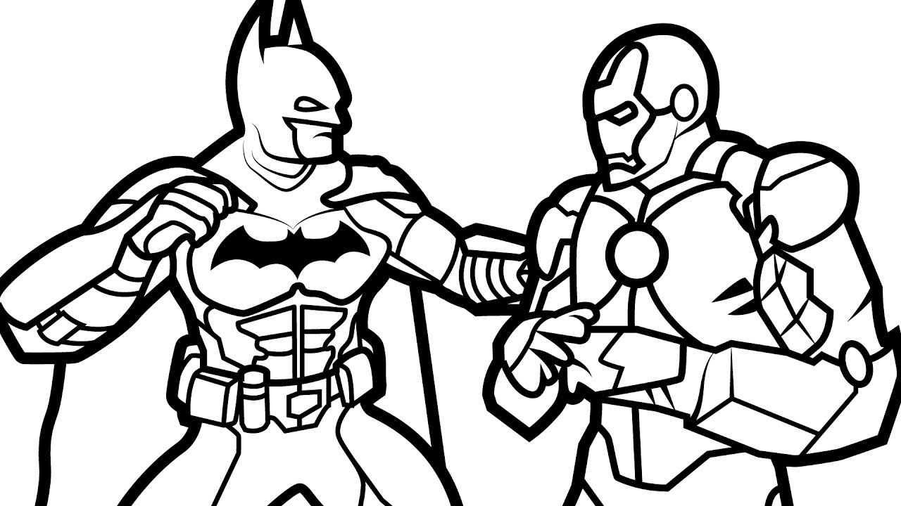Printable Ironman Coloring Pages Ironman Coloring Pages Batman Vs Iron Man Coloring Book Coloring
