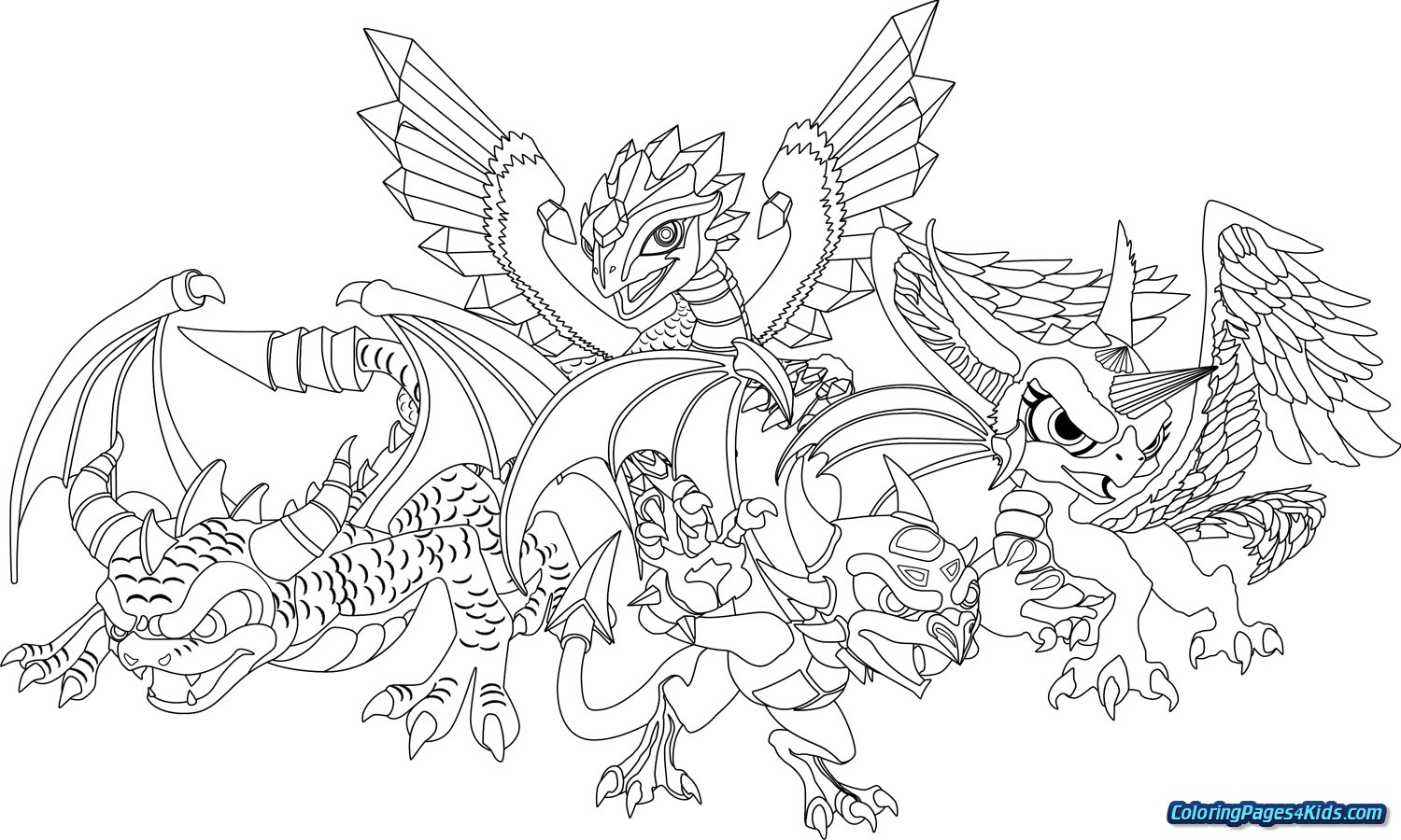 Printable Skylanders Coloring Pages Collection Skylanders Trap Team Coloring Pages Pictures