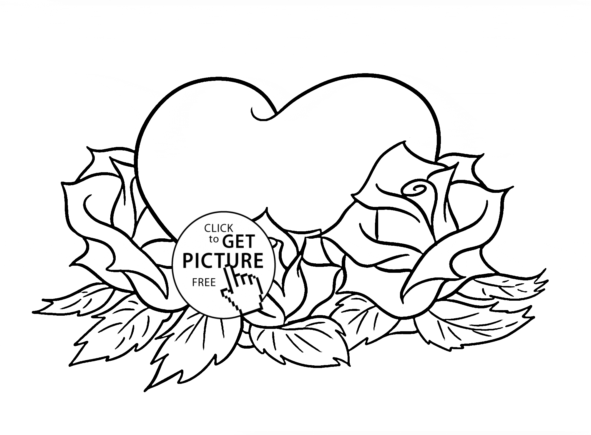 Roses And Hearts Coloring Pages 21 Coloring Pages Of Hearts And Flowers Printable Free Coloring