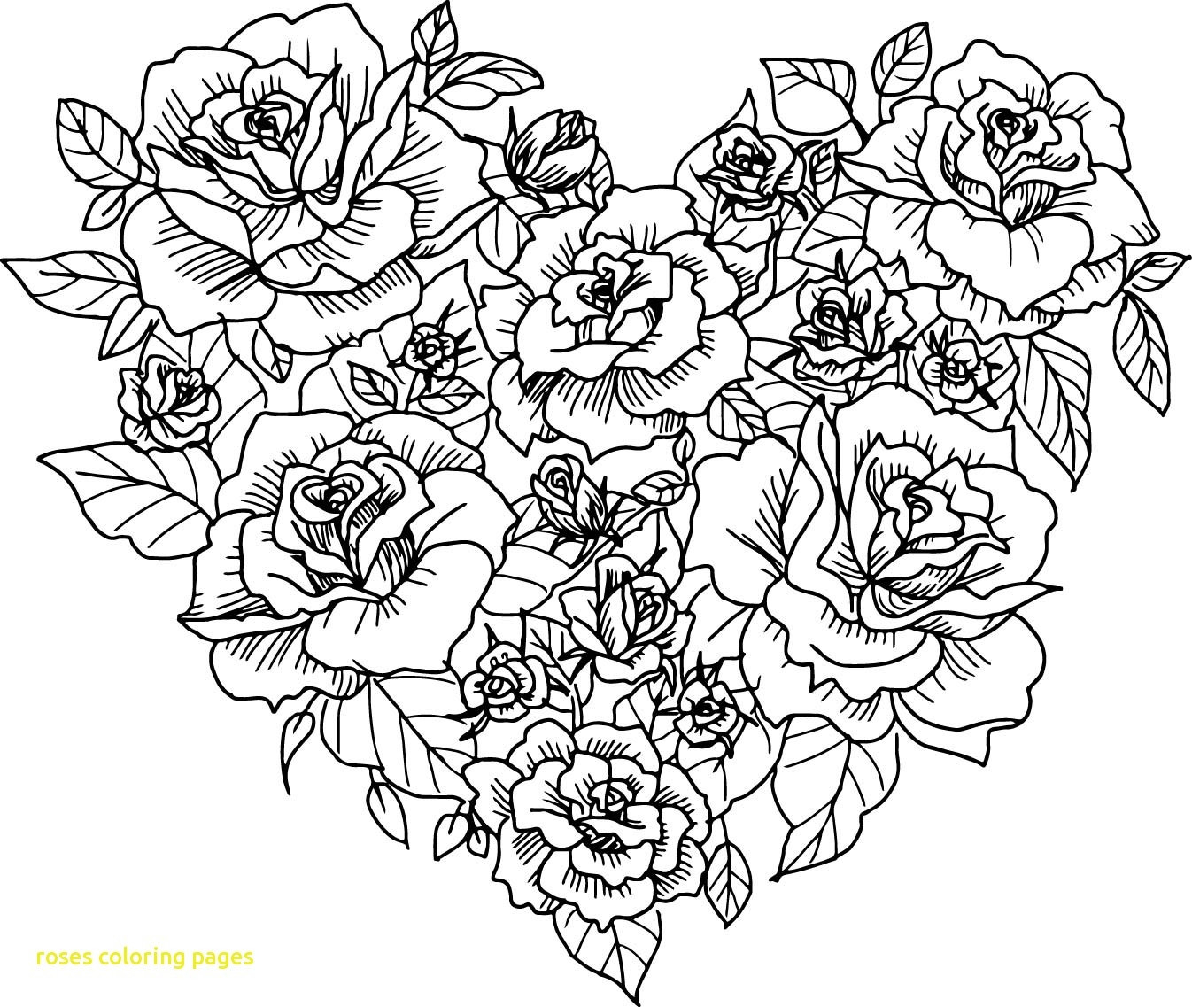 Roses And Hearts Coloring Pages Coloring Coloring Pages Of Hearts And Flowers Awesome With Roses
