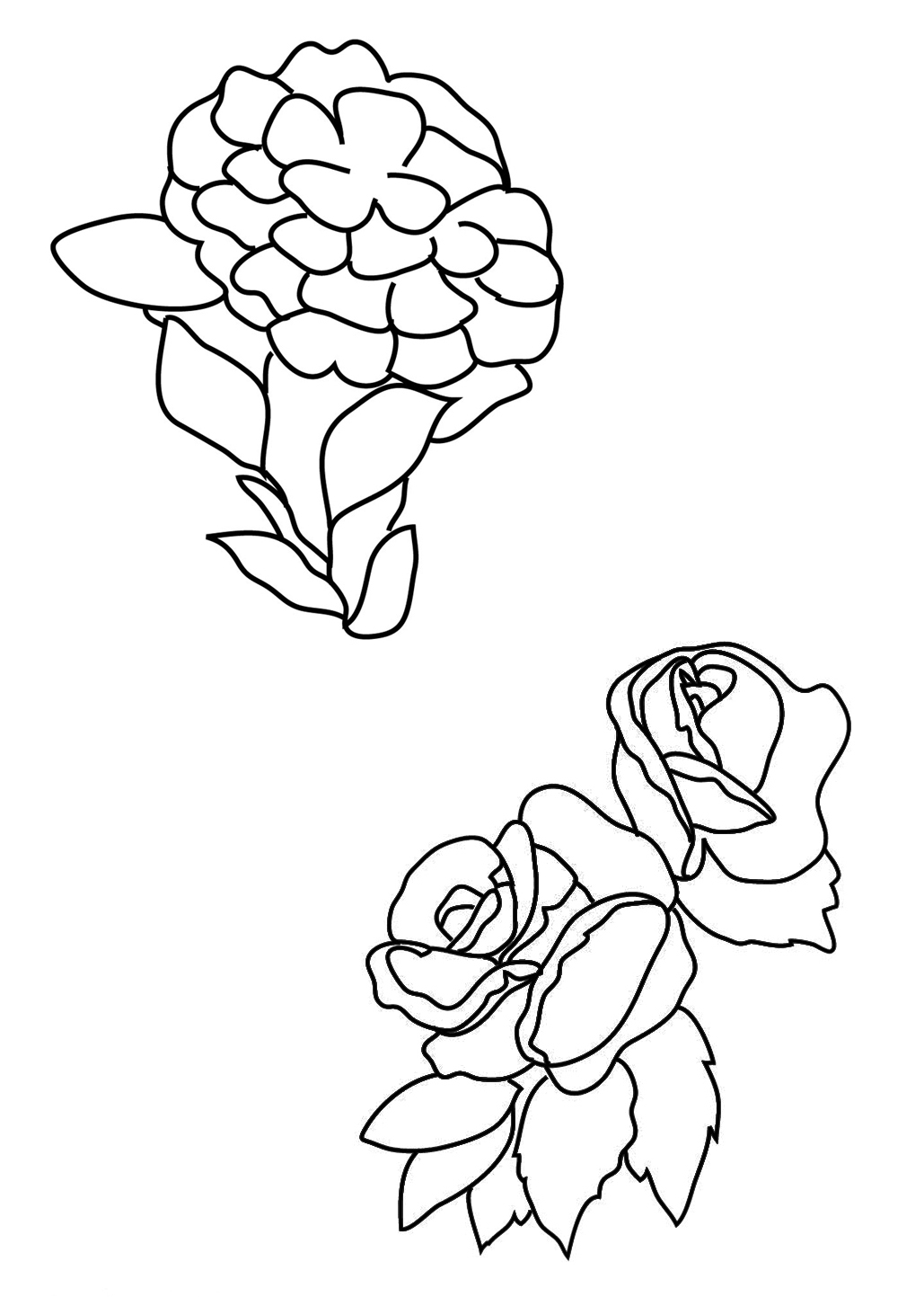 Roses And Hearts Coloring Pages Growth Coloring Pages Of Rose Flower