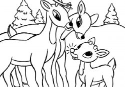 Santa And Rudolph Coloring Pages 20 Best Rudolph The Red Nosed Reindeer Coloring Pages For Your