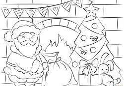Santa Coloring Pages Free Free Santa Coloring Pages And Printables For Kids