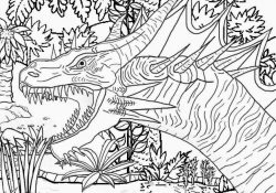 Scary Dinosaur Coloring Pages Coloring Ideas Skill Scary Dinosaur Coloring Pages Depetta Online