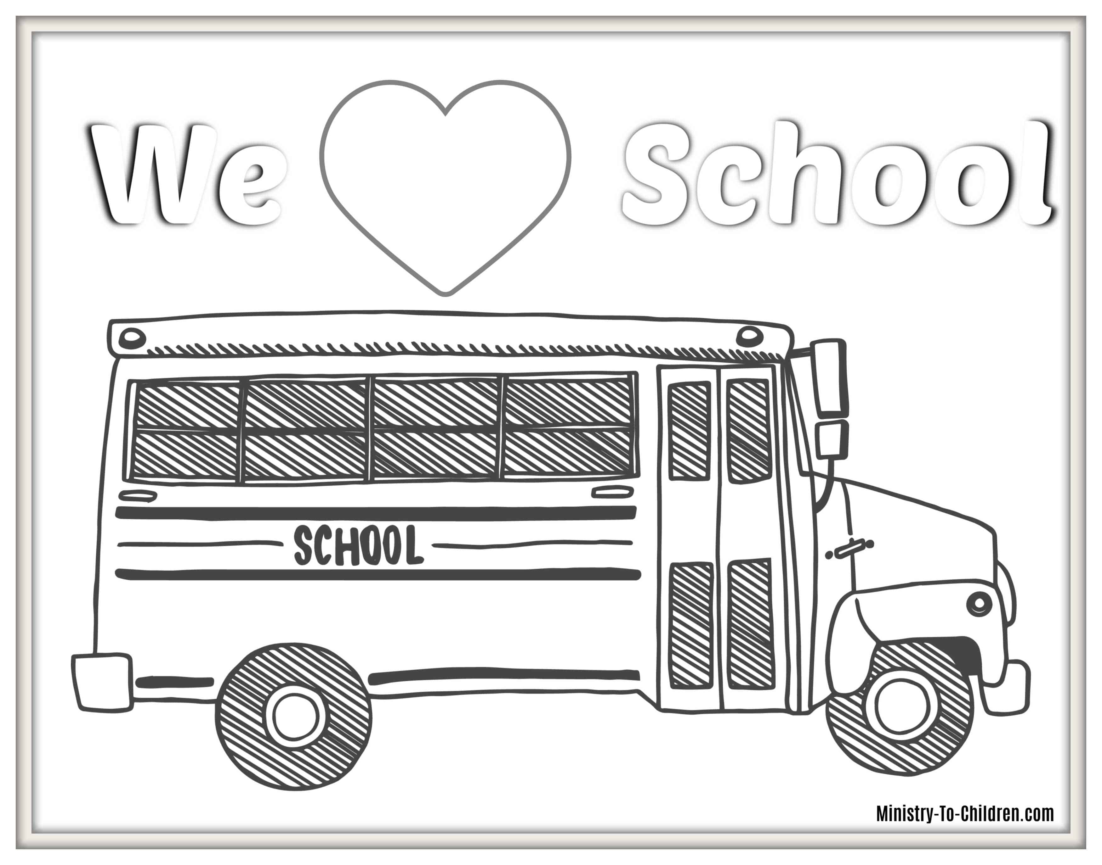 School Bus Coloring Page 6 Back To School Coloring Pages Free Pdf Printables For 2019