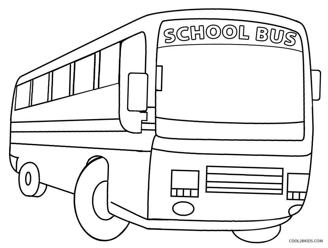 School Bus Coloring Page Printable School Bus Coloring Page For Kids Cool2bkids