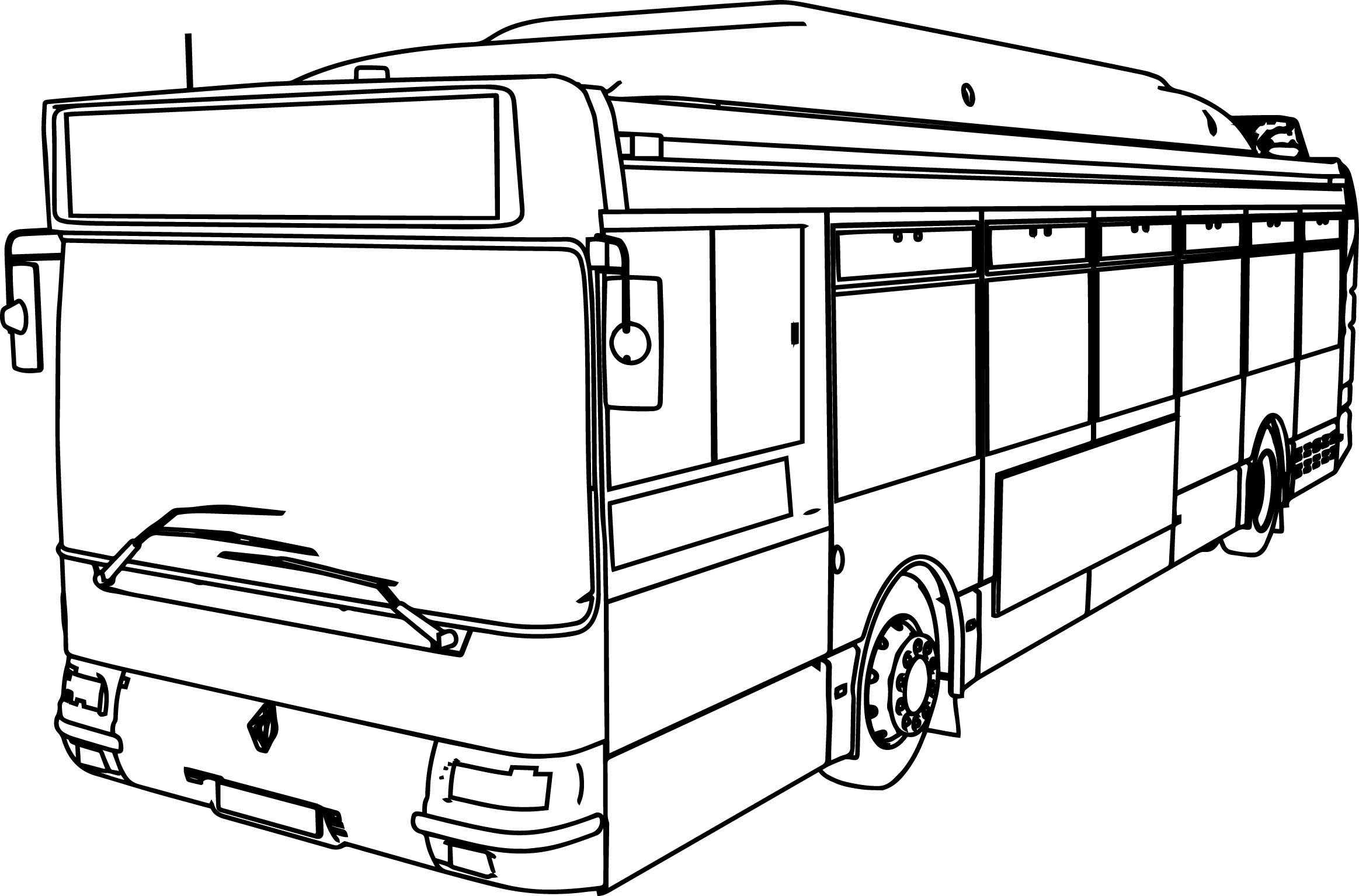 School Bus Coloring Page School Bus Coloring Page At Getdrawings Free For Personal Use