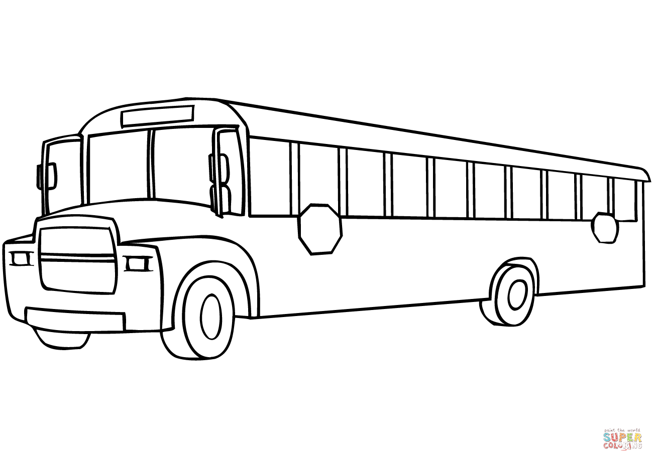 School Bus Coloring Page School Bus Coloring Page Free Printable Coloring Pages