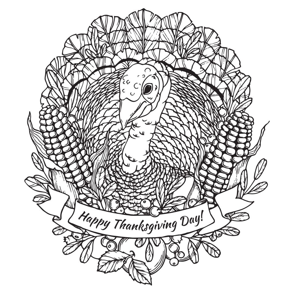 Thanksgiving Color By Number Pages Coloring Pages Thanksgiving Coloring Pages For Adults Detailed
