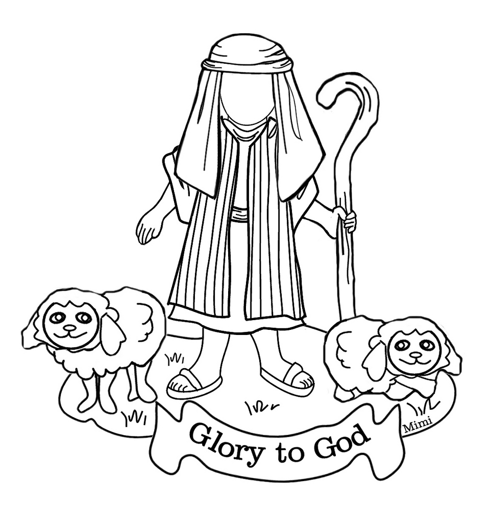 The Good Shepherd Coloring Page Christmas Shepherd Coloring Pages At Getdrawings Free For