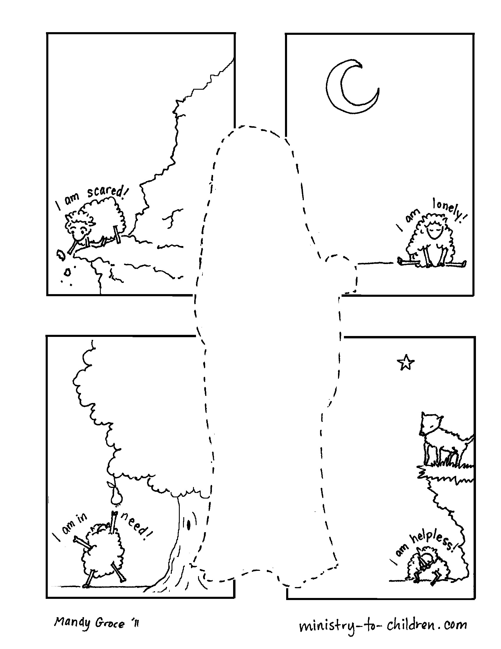 The Good Shepherd Coloring Page Coloring Pages For Kids That Share The Gospel Printable Coloring
