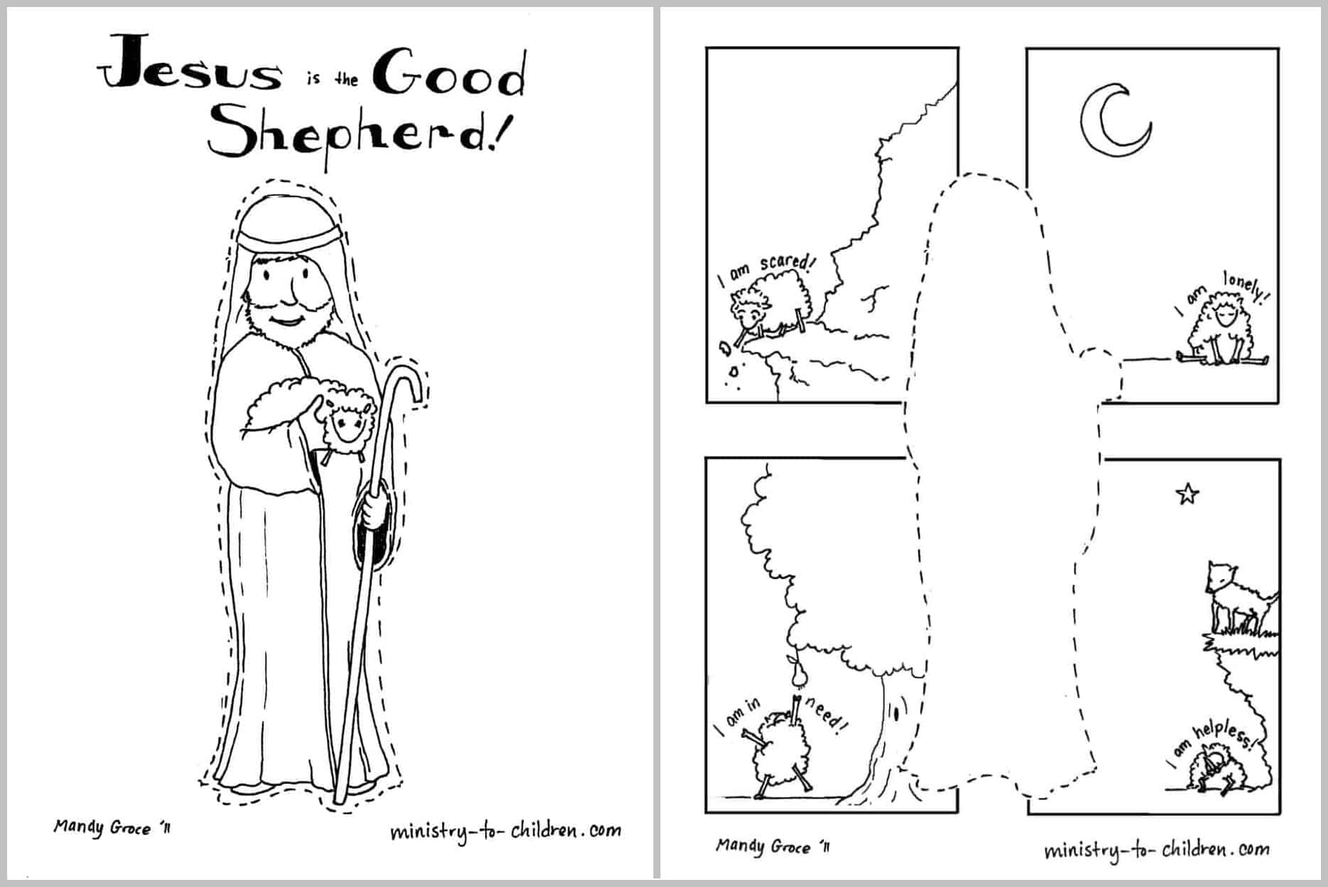 The Good Shepherd Coloring Page Jesus Is The Good Shepherd Coloring Page Easy Print 100 Free