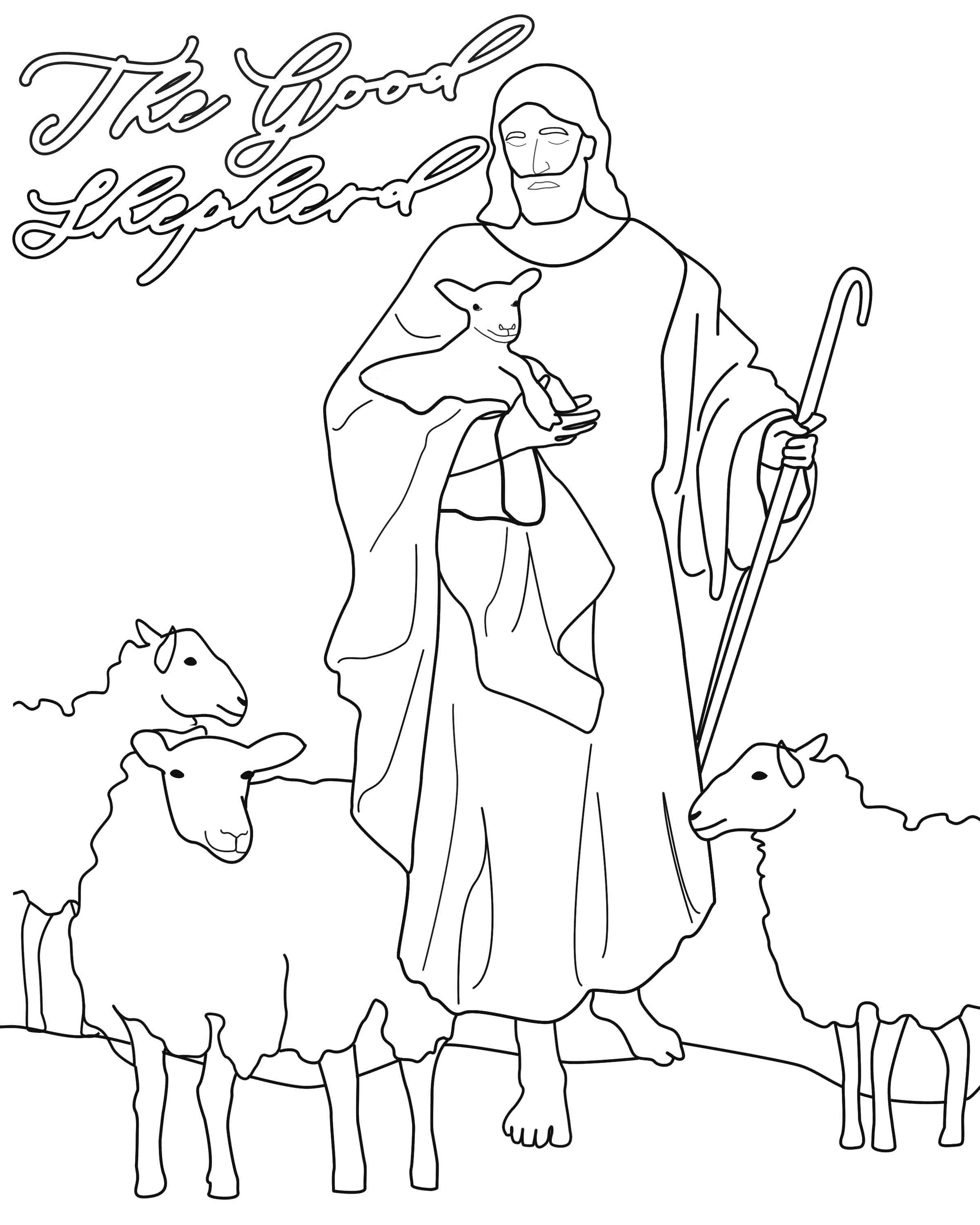The Good Shepherd Coloring Page The Good Shepherd Story Come Follow Me April 29 May 5th John 7 10