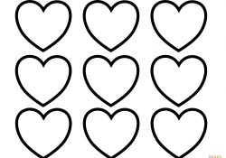 Valentines Day Hearts Coloring Pages Valentines Day Blank Hearts Coloring Page Free Printable Coloring