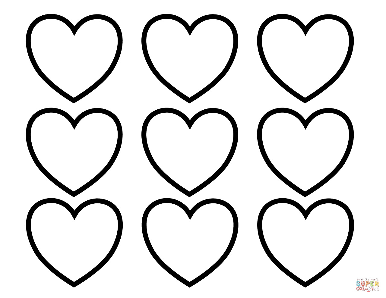Exclusive Photo Of Valentines Day Hearts Coloring Pages Vicoms Info