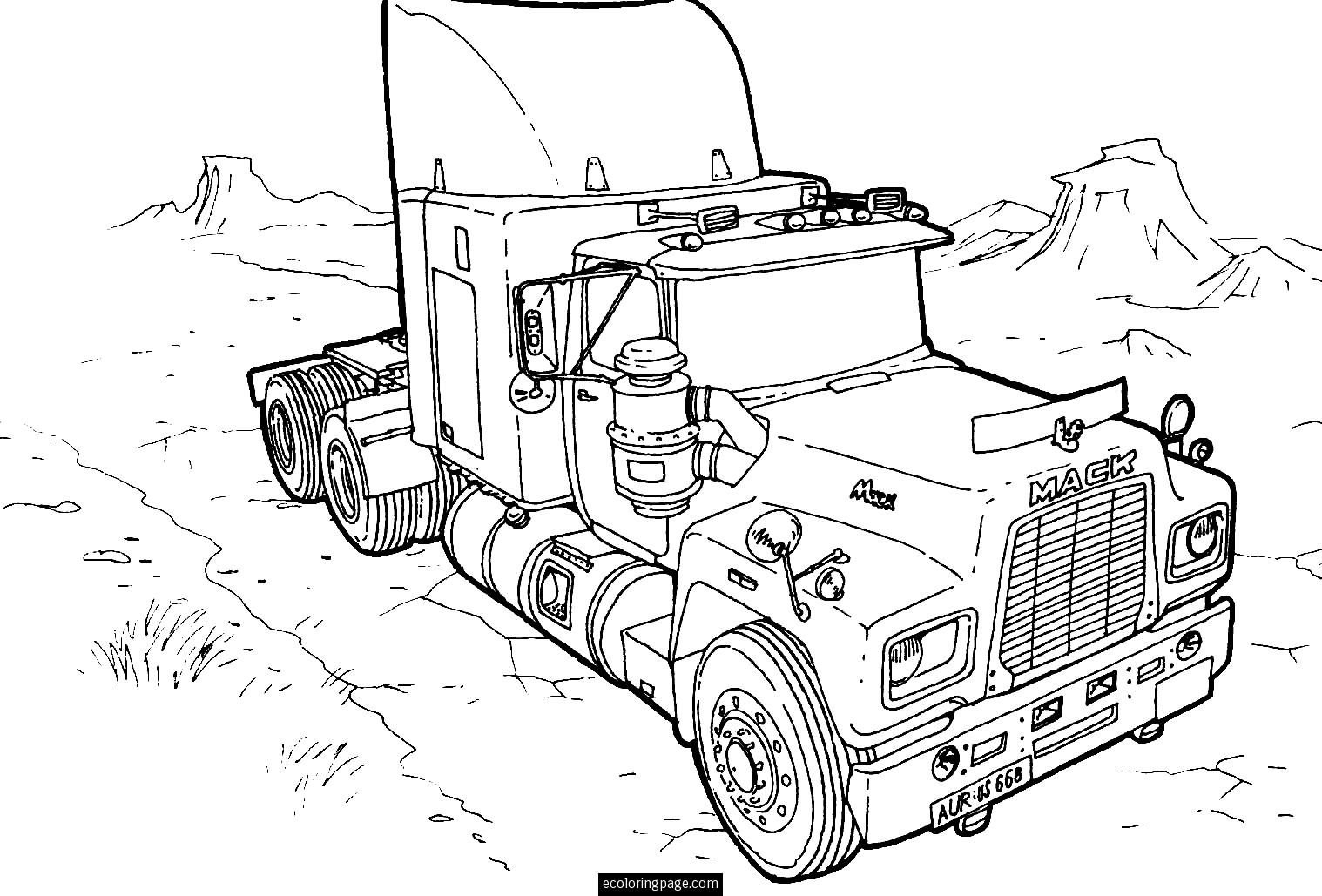 Adult Coloring Pages Trucks 18 Wheeler Coloring Pages Coloring Home