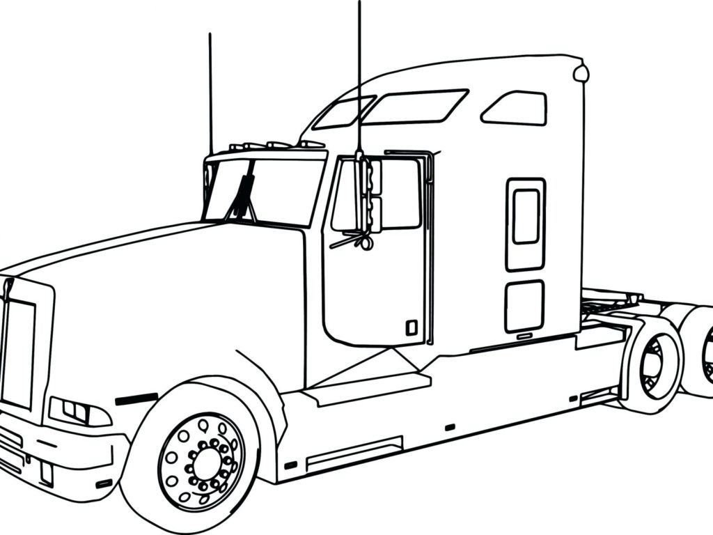 Adult Coloring Pages Trucks Coloring Book World Last Minute Semi Truck Pages Adult Printable