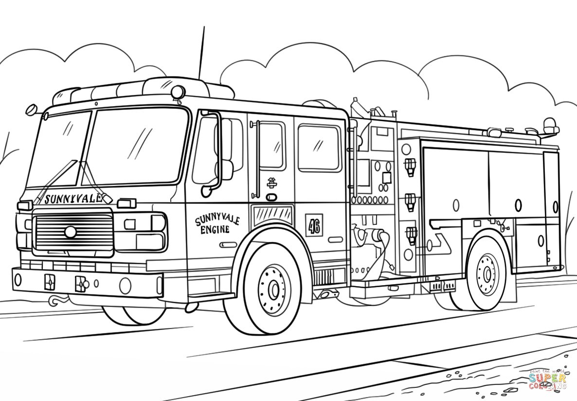 Adult Coloring Pages Trucks Coloring Ideas Fire Truck Scania Coloringe Ines Best Ideas Engine