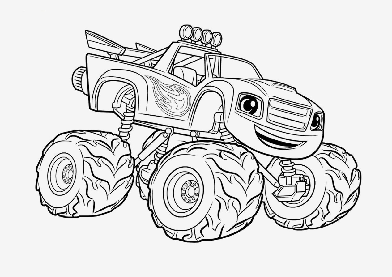 Adult Coloring Pages Trucks Coloring Tremendous Monster Truck Pictures To Color Bigfoot And