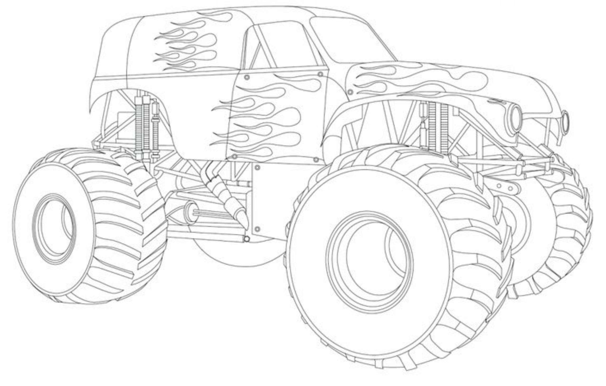 Adult Coloring Pages Trucks Drawing Monster Truck Coloring Pages With Kids Best Apps For Kids