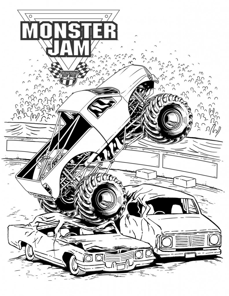 Adult Coloring Pages Trucks Monster Trucks Coloring Pages 27248 Bestofcoloring