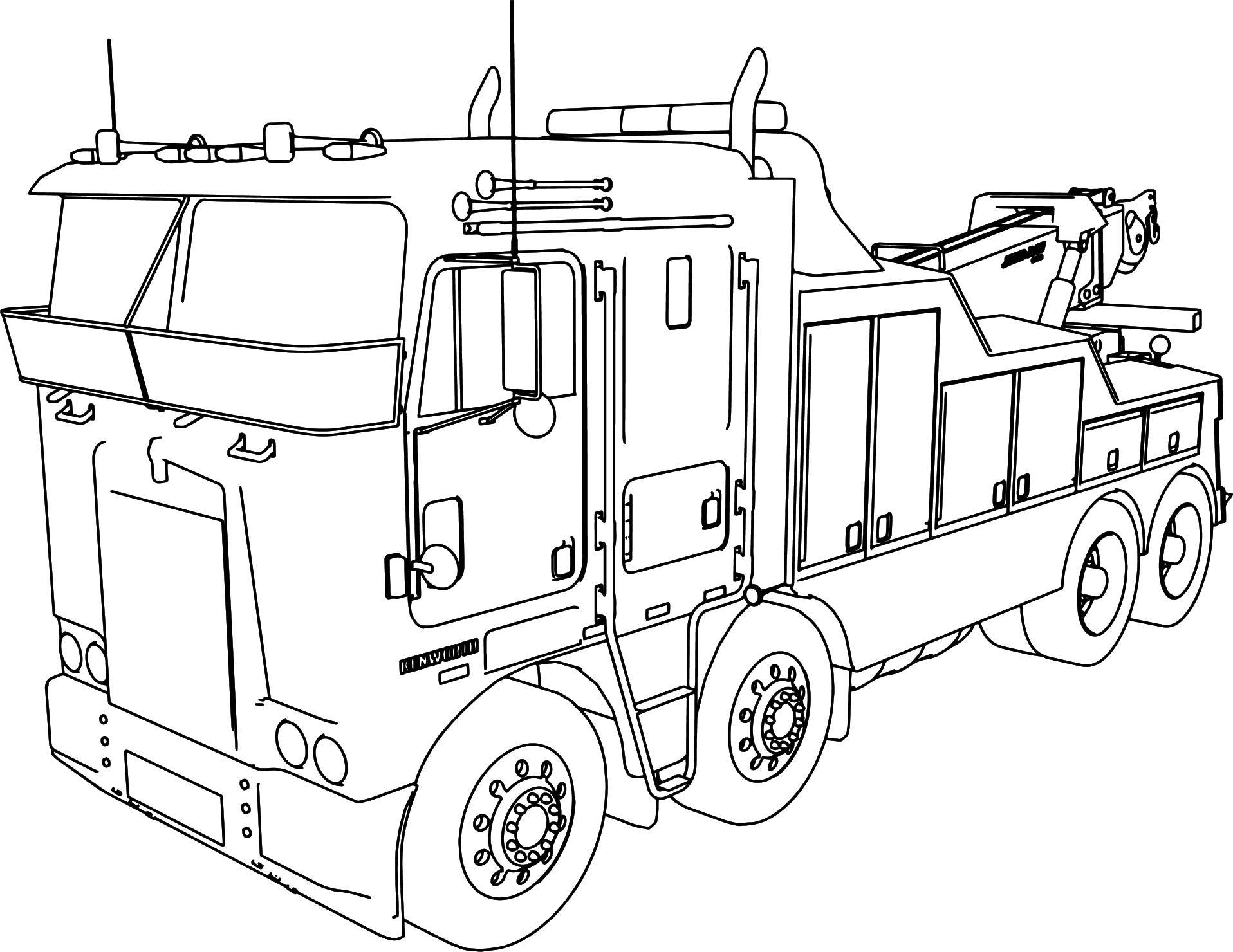 Adult Coloring Pages Trucks Truck Coloring Pages Coloringrocks