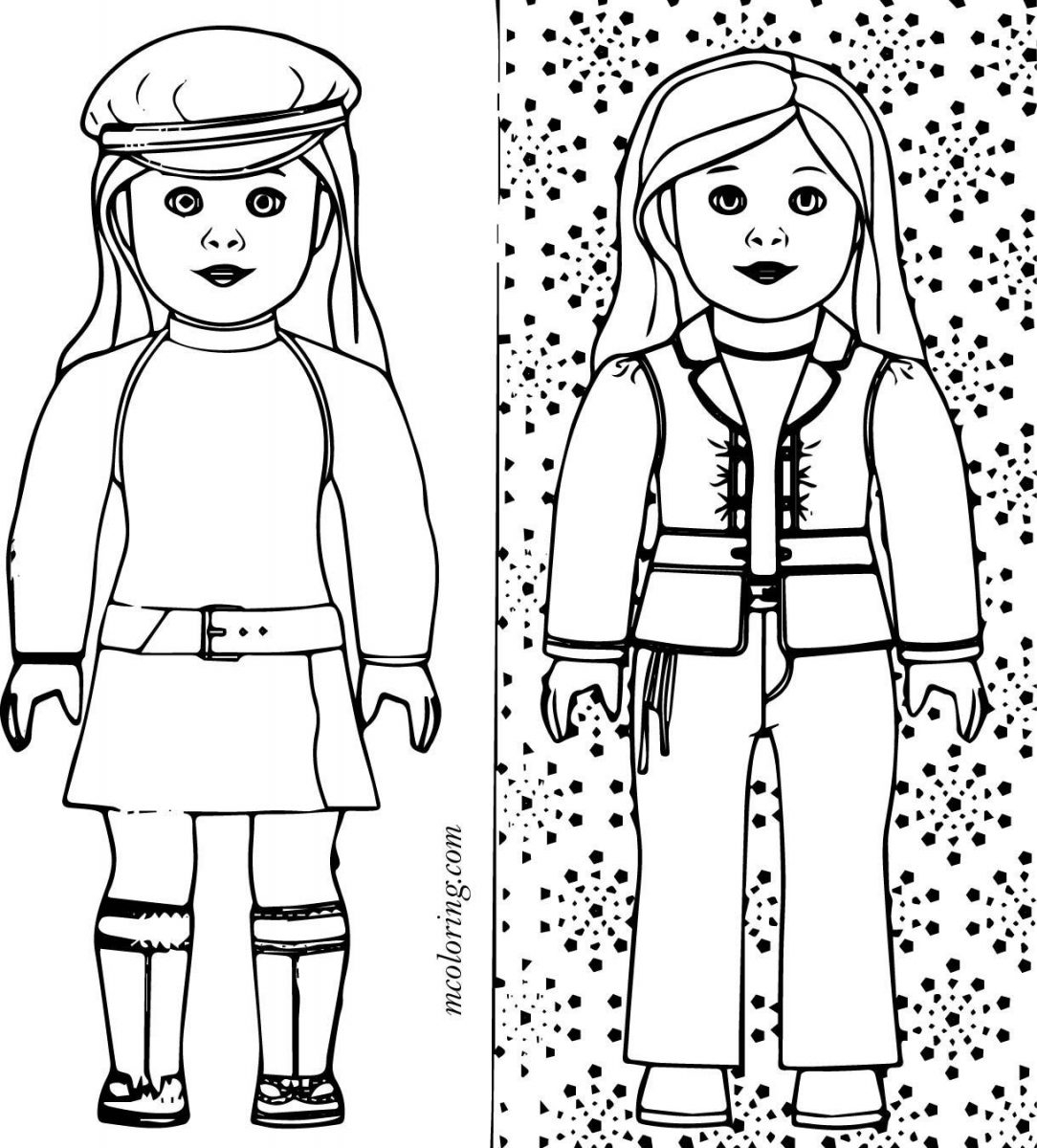 American Girl Coloring Pages Lea American Girl Coloring Pages Lea Samantha Isabelle Grace Sheets Free