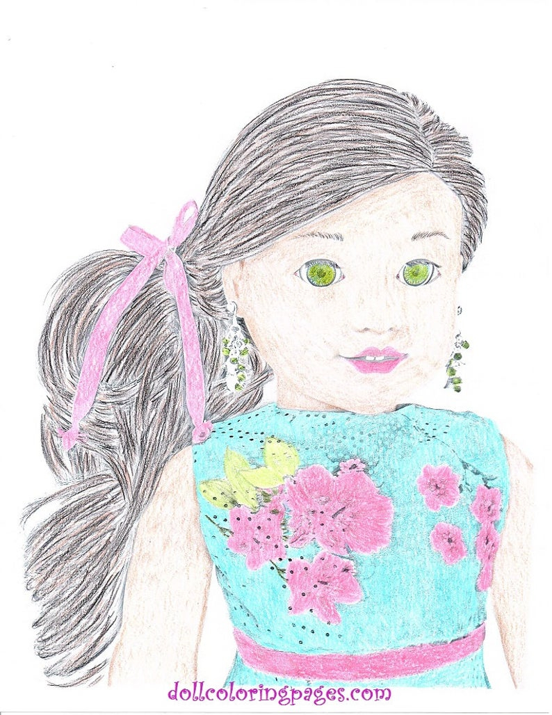 American Girl Coloring Pages Lea American Girl Doll Coloring Pages Lea Clark Two Doll Coloring Pages Greyscale Art 2 Jpeg Digital Downloads To Print And Color