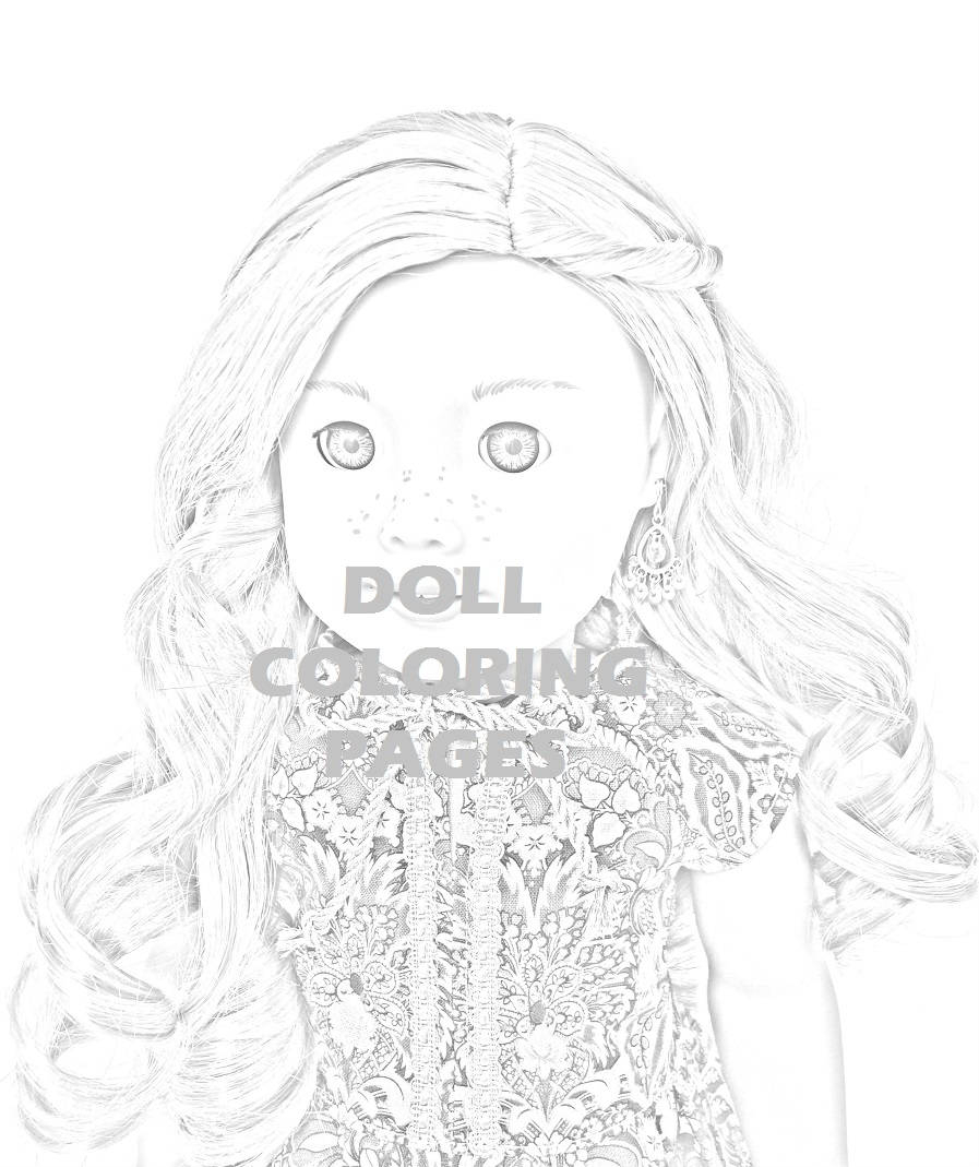 American Girl Coloring Pages Lea American Girl Doll Coloring Pages Tenney Grant Adult Coloring Doll Photography Greyscale Art 2 Jpg Digital Instant Downloads
