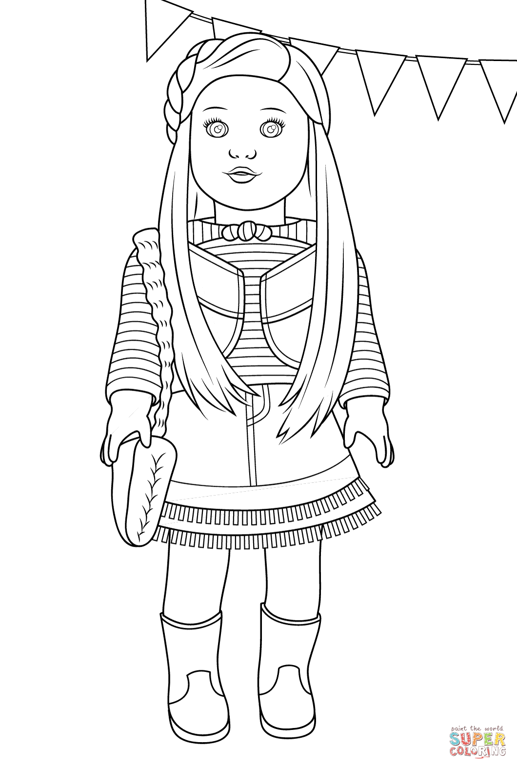American Girl Coloring Pages Lea American Girl Mckenna Coloring Page Free Printable Coloring Pages