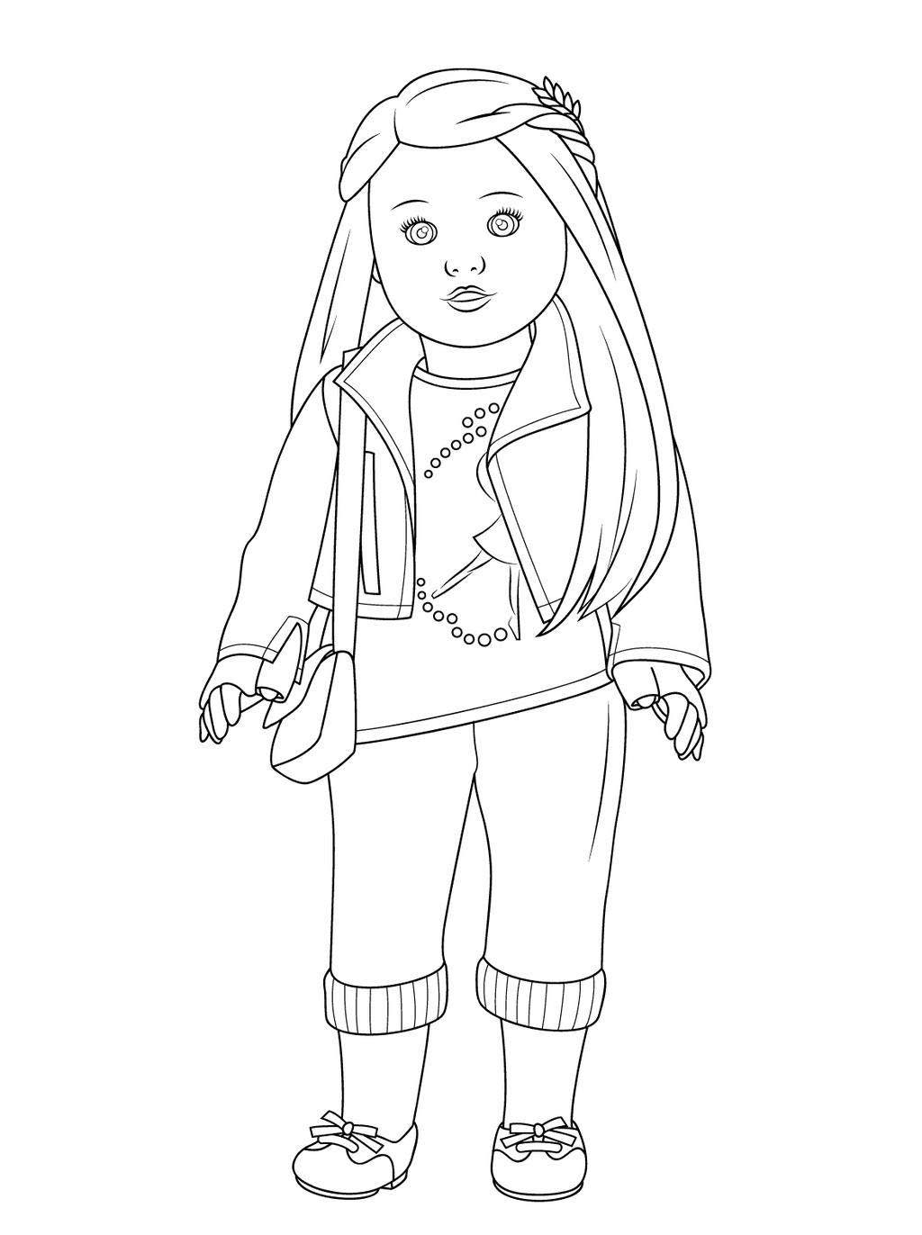 American Girl Coloring Pages Lea Coloring American Girl Coloring Pages Tenney Doll Lea Kanani Julie