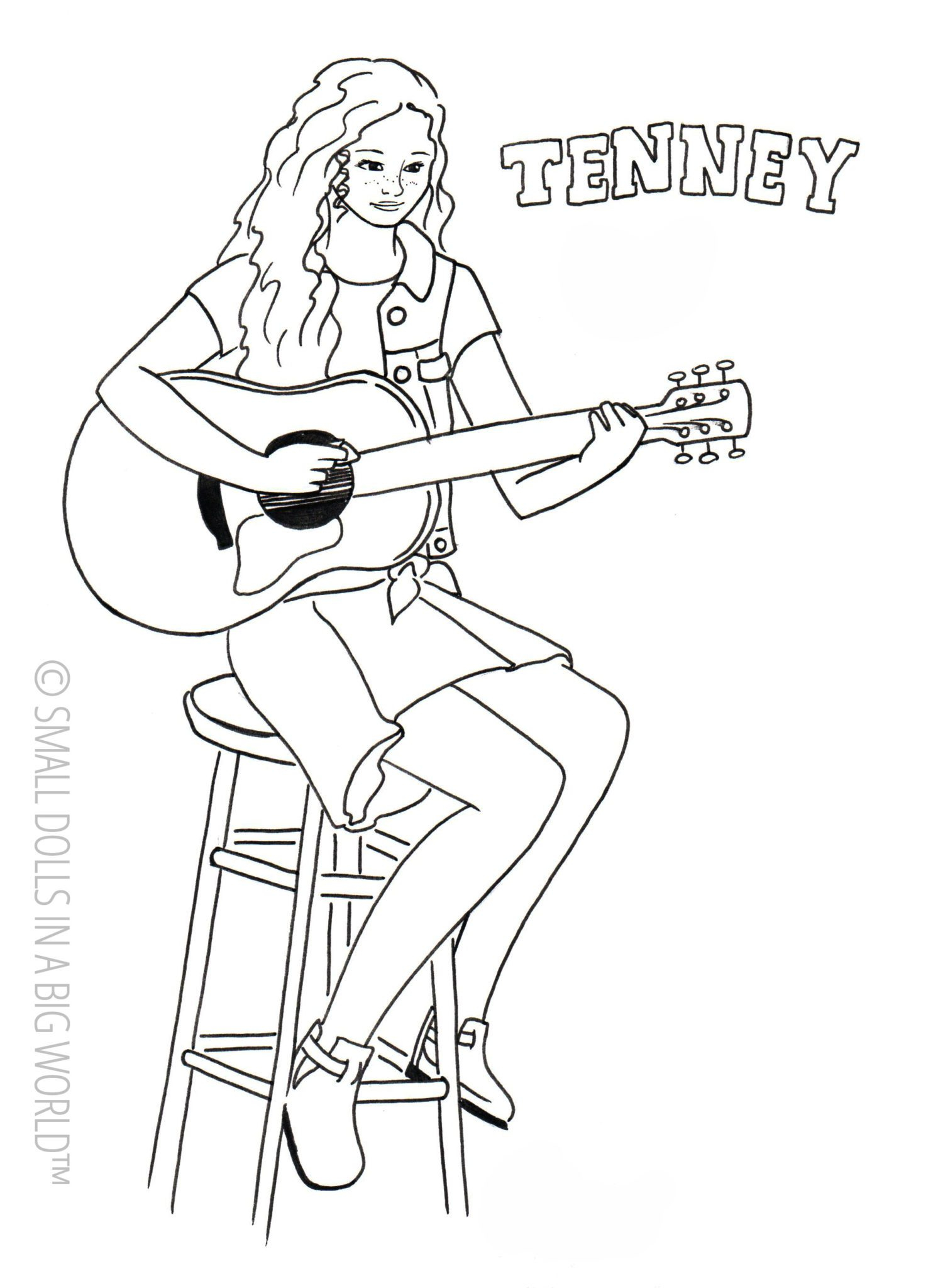 American Girl Coloring Pages Lea Coloring Book World Coloring Book World American Girl Pages