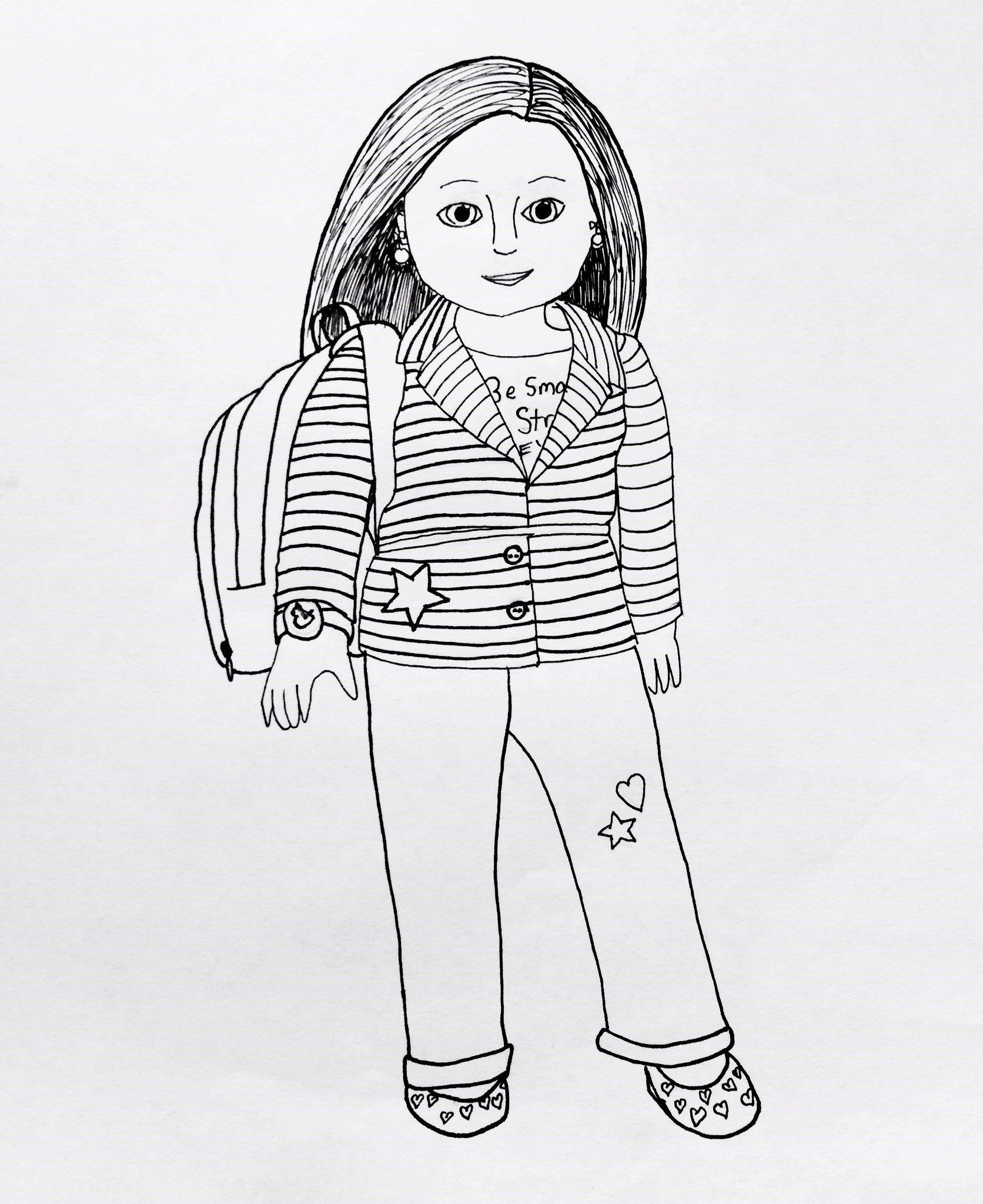 American Girl Coloring Pages Lea My American Girl Coloring Pages Small Dolls In A Big World
