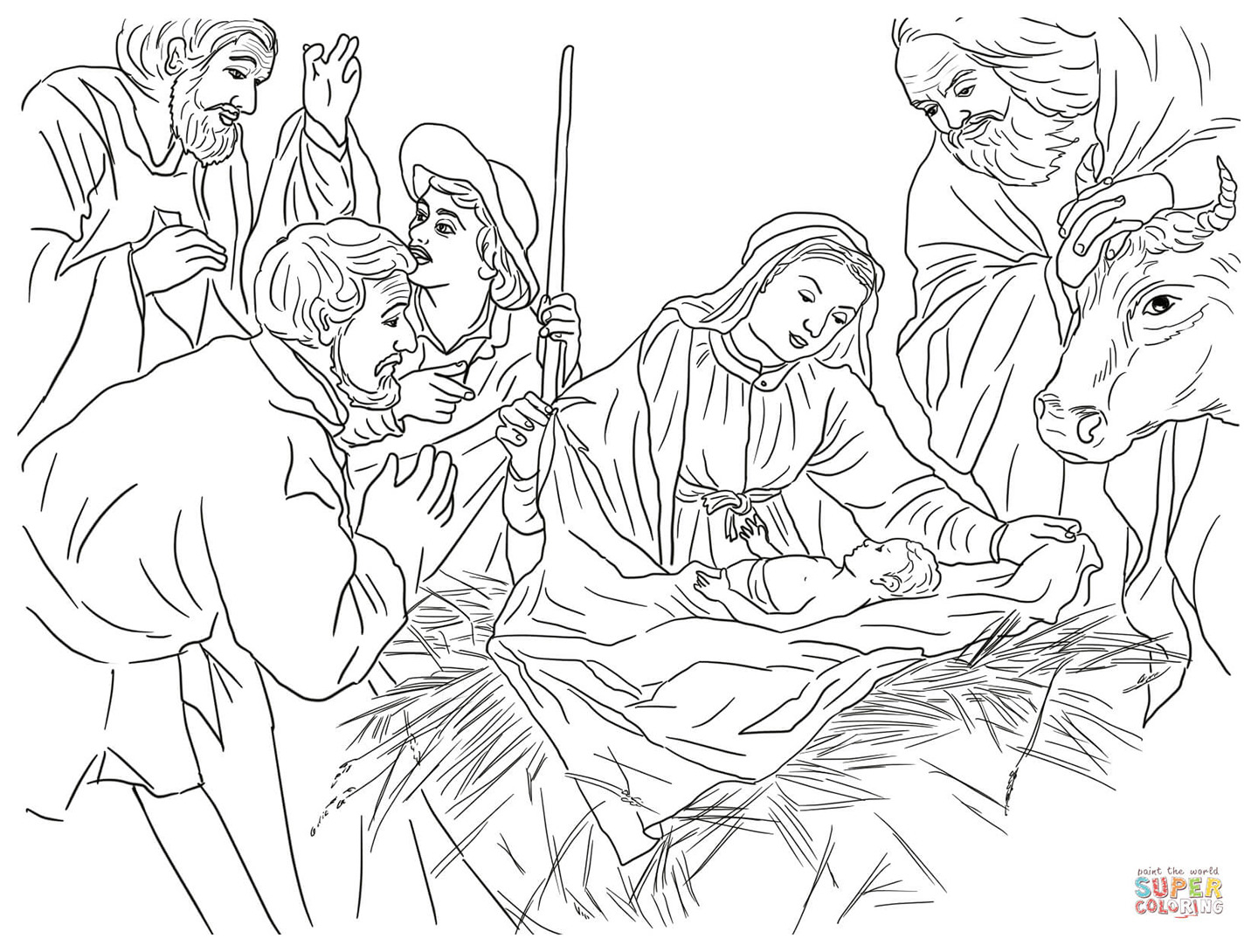 Angel Visits Joseph Coloring Page Free Christian Coloring Pages For Children And Adults Level 3