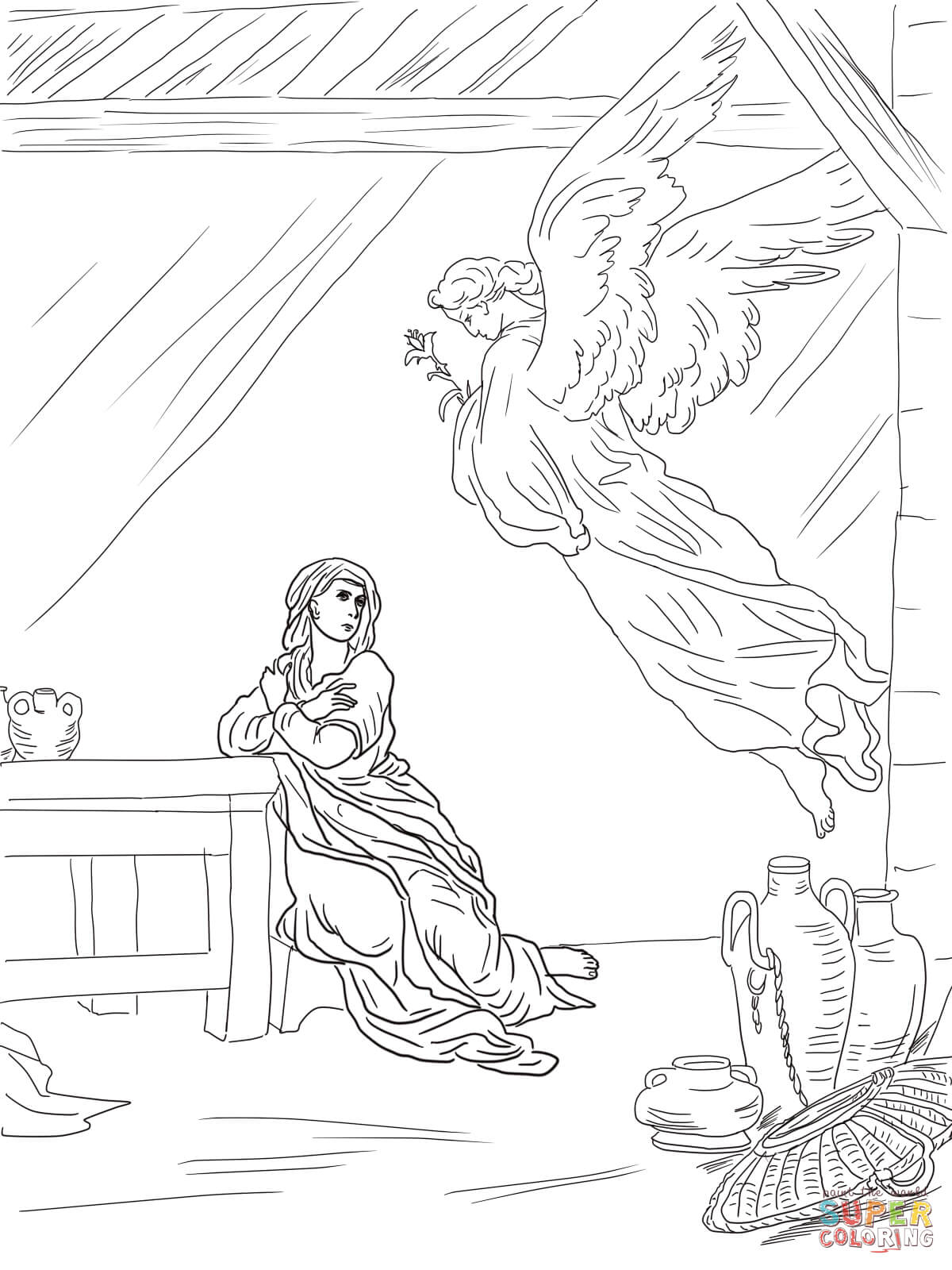 Angel Visits Joseph Coloring Page Jesus Nativity Coloring Pages Free Coloring Pages