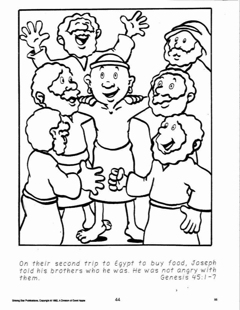 Angel Visits Joseph Coloring Page Joseph Coloring Pages Curiertech