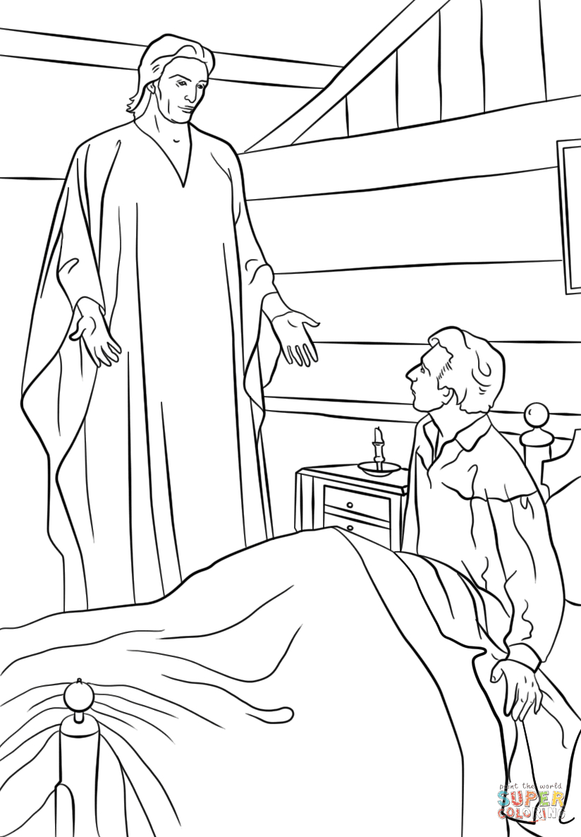 Angel Visits Joseph Coloring Page Short Attention Span Sunday School Short Attention Span Sunday