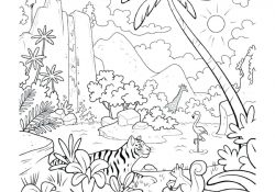 Animals In The Rainforest Coloring Pages Coloring Ideas Coloring Ideas Rainforest Sheets Preschool Canopy