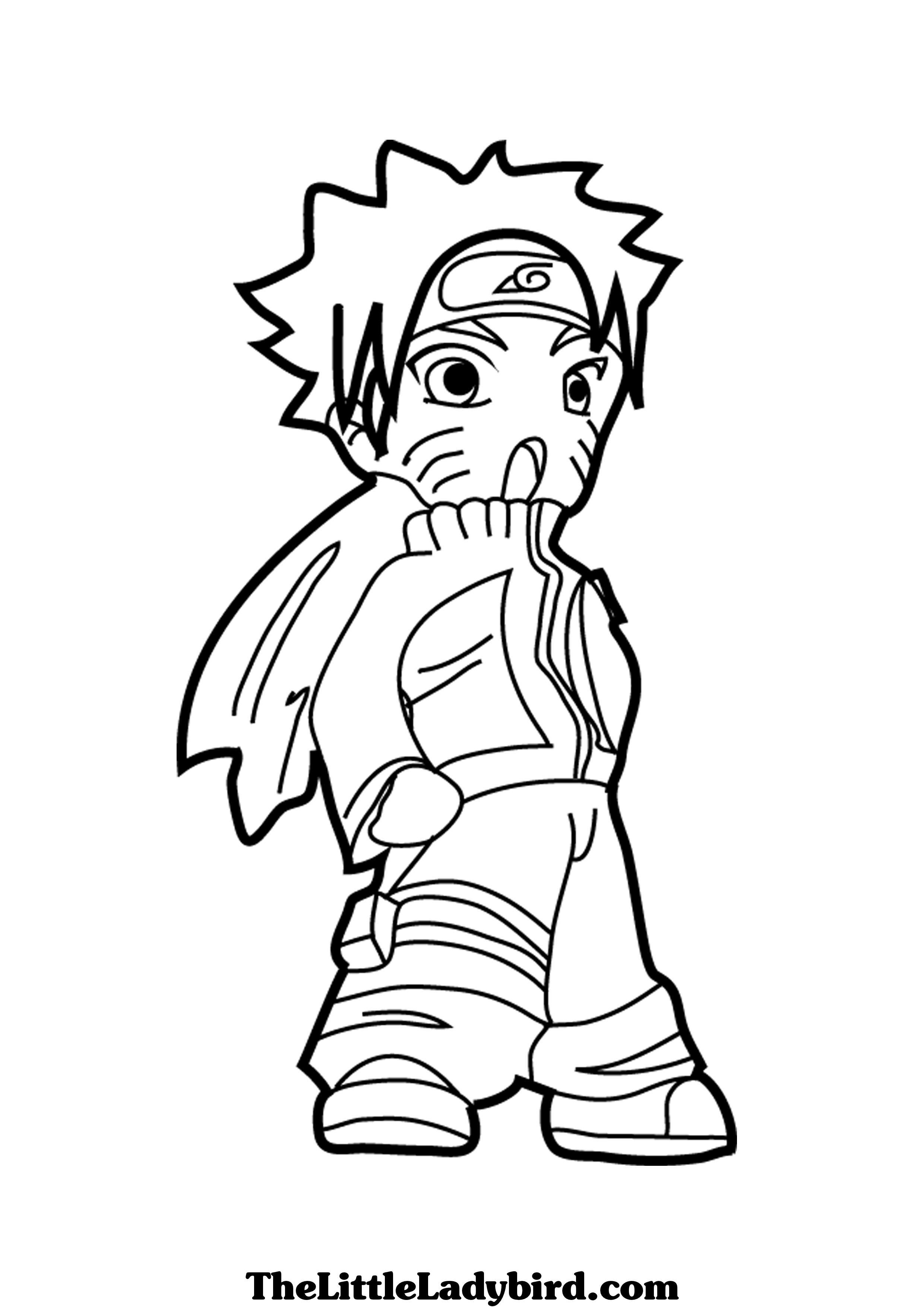 Anime Naruto Coloring Pages Free Anime Naruto Coloring Page Thelittleladybird