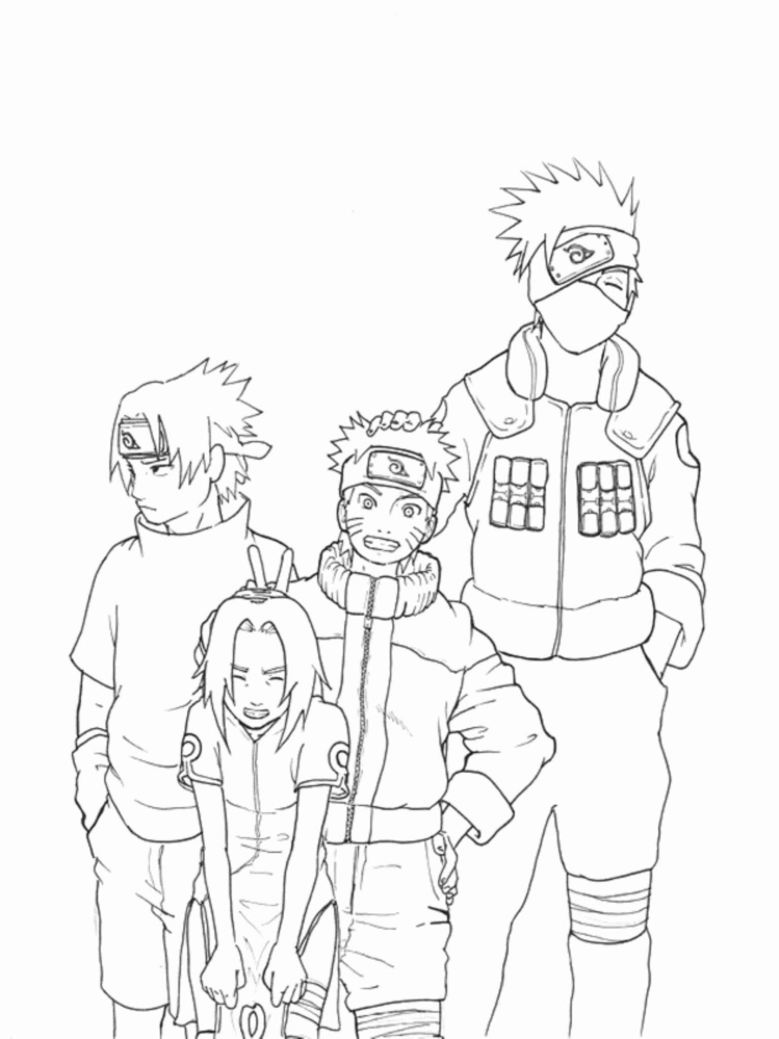 Anime Naruto Coloring Pages Kakashi And Naruto Coloring Pages
