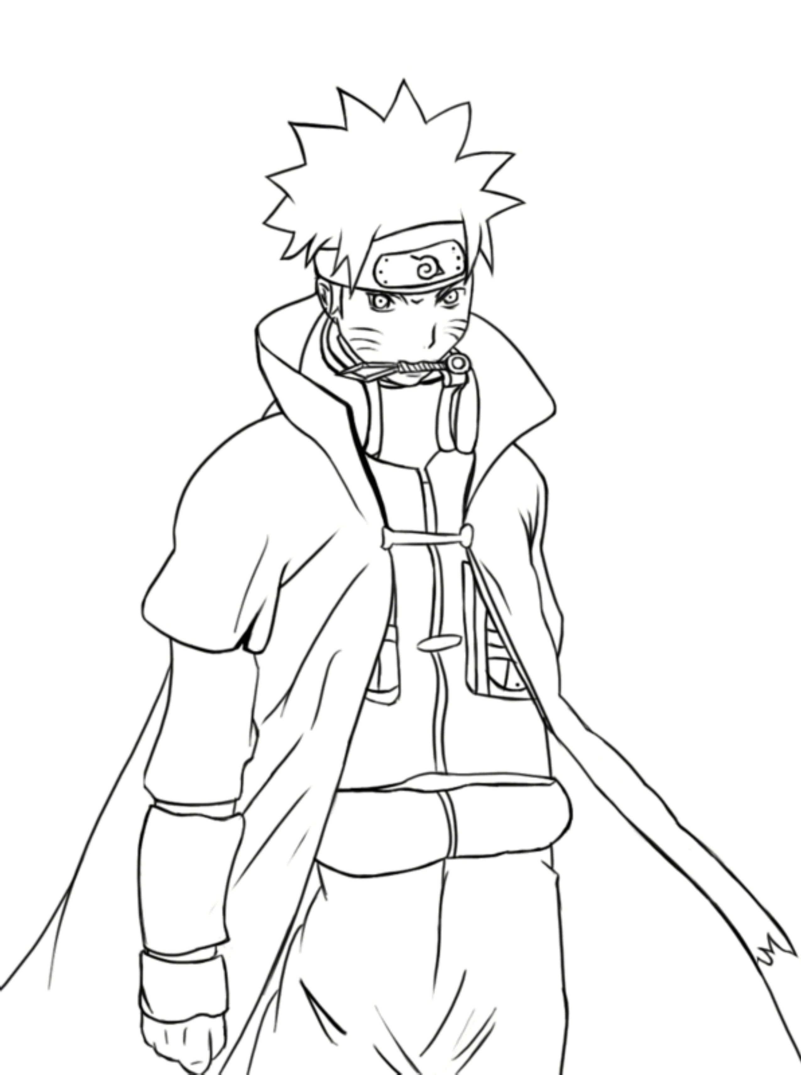 Anime Naruto Coloring Pages Naruto With Sasuke Anime Coloring Pages For Kids New Squad 7 And