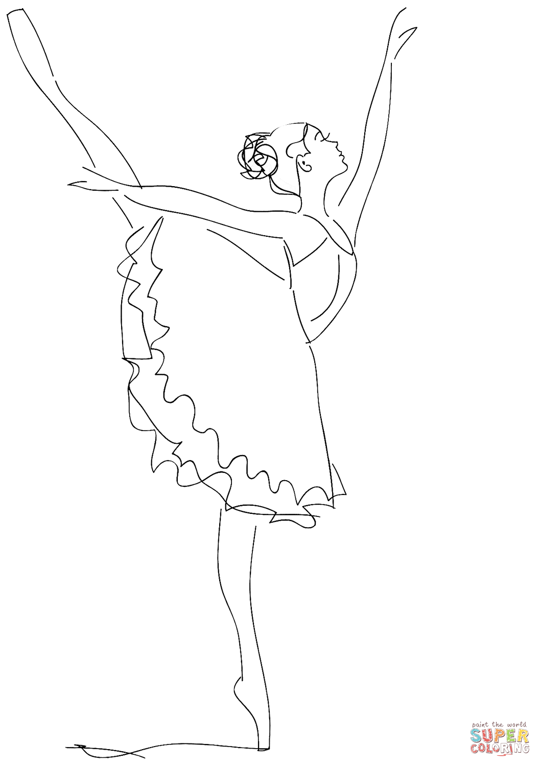 Ballerina Coloring Pages For Kids Ballerina Coloring Page Free Printable Coloring Pages