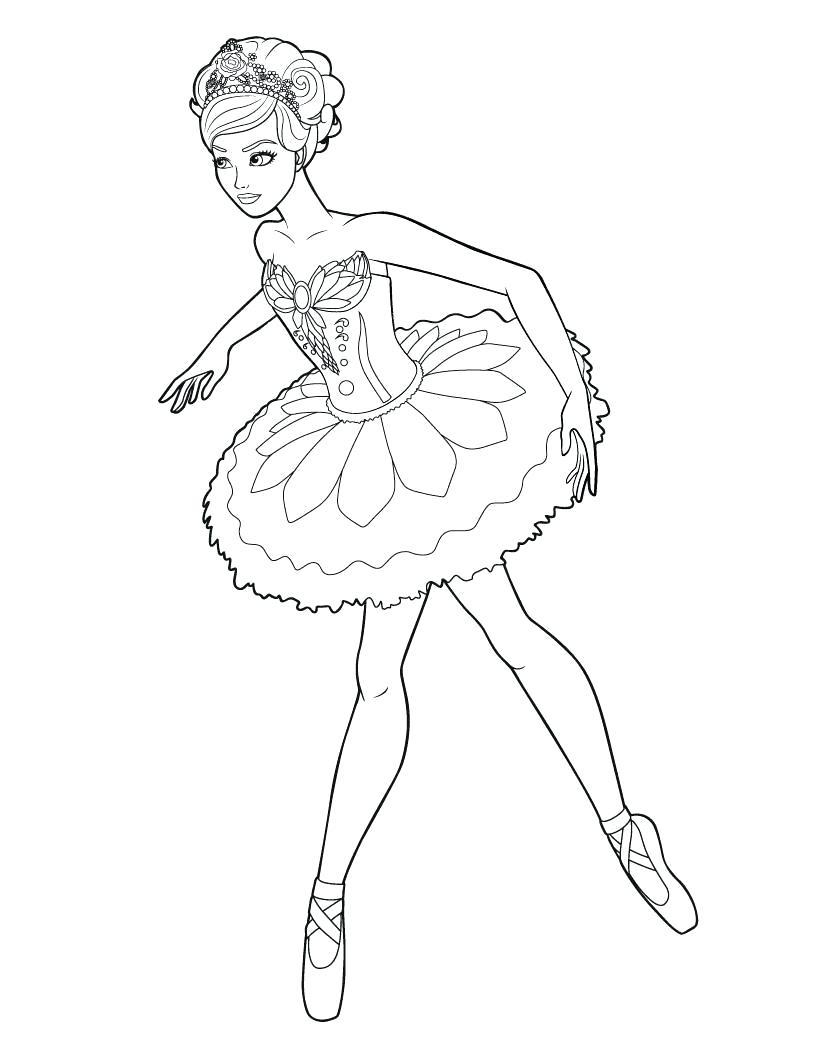 Ballerina Coloring Pages For Kids Ballerina Coloring Pictures Cortexcolorco