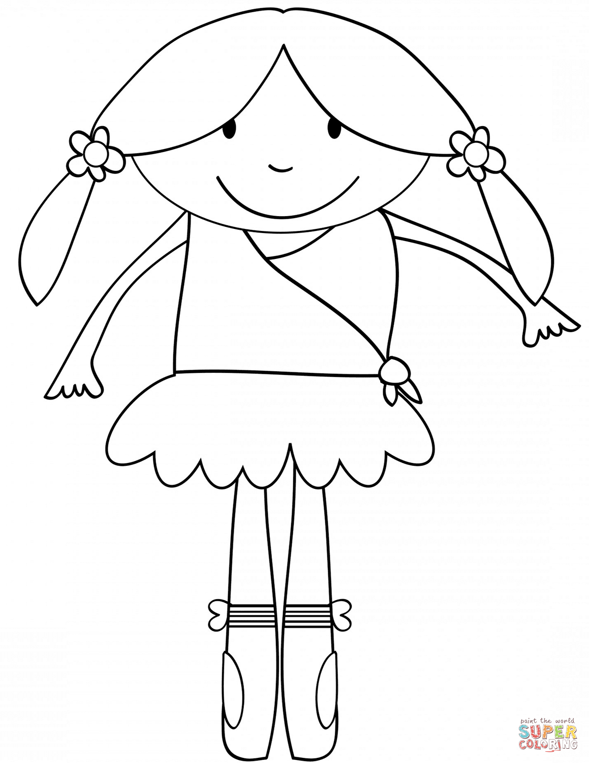 Ballerina Coloring Pages For Kids Ballet Coloring Pages Free Coloring Pages