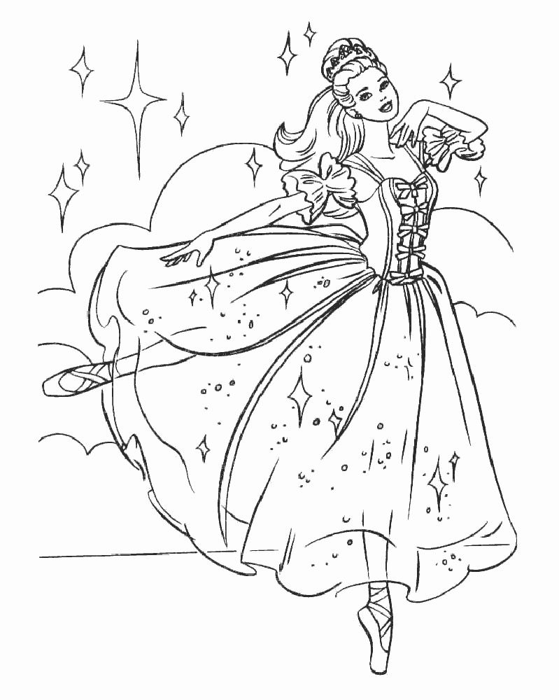 Ballerina Coloring Pages For Kids Ballet Drawing At Getdrawings Free For Personal Use Ballet