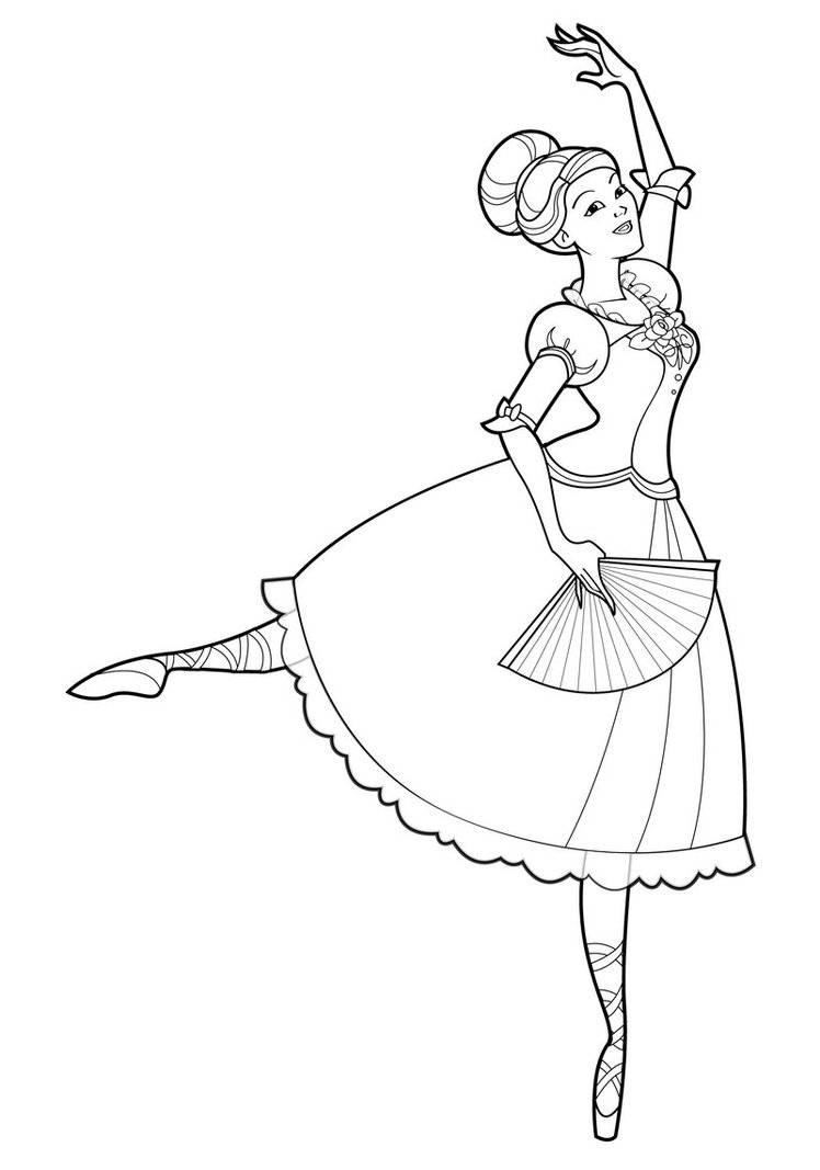 Ballerina Coloring Pages For Kids Coloring Ideas Kids Dancing Coloring Pages At Getdrawings Com