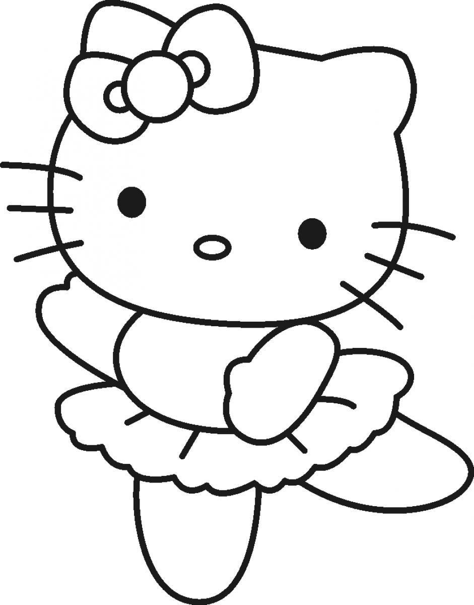 Ballerina Coloring Pages For Kids Coloring Pages Nice Hello Kitty Ballerina Coloring Pages
